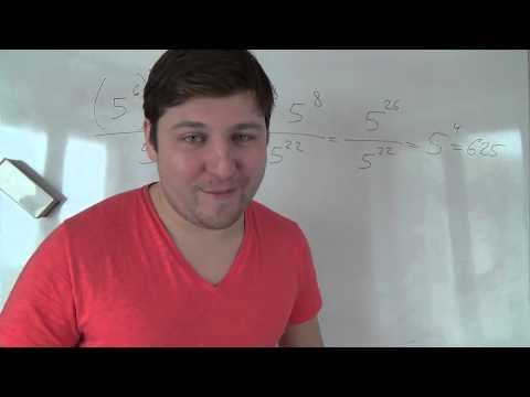 Алгебра 7 класс. Степень в основание которой степень