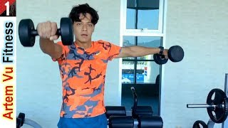 [КАК БЫСТРО НАКАЧАТЬ РУКИ ГАНТЕЛЯМИ] качаем бицепс, трицепс, плечи | Fitness Gym Workouts