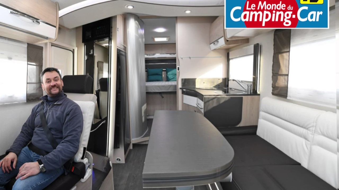 le salon modulable du camping car chausson 738 xlb youtube. Black Bedroom Furniture Sets. Home Design Ideas