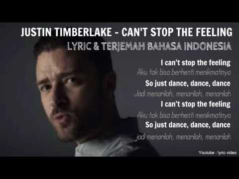 JUSTIN TIMBERLAKE - CAN'T STOP THE FEELING - lirik & terjemah (LYRIC VIDEO)