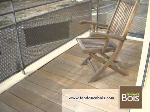 pose de terrasse en bois sur balcon youtube. Black Bedroom Furniture Sets. Home Design Ideas