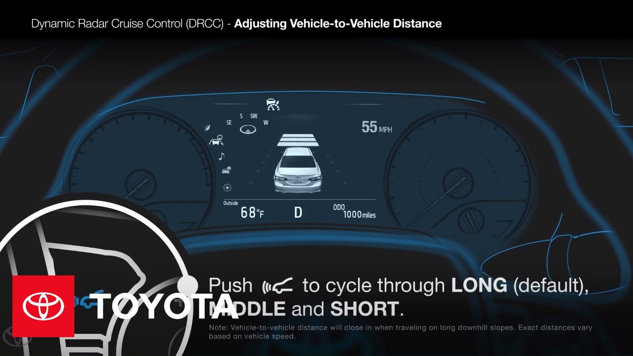 How to Operate the Toyota Dynamic Radar Cruise Control System