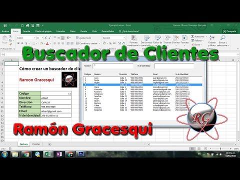 Cómo hacer un Buscador de Clientes con UserForm en Excel super practico