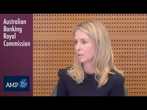AMP's Head of Advice Compliance testifies at the Banking Royal Commission