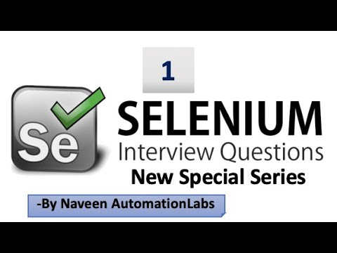 Download Selenium Interview Questions & Answers - Latest (2020) - Part -1
