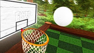WORLDS HARDEST GOLF BASKETBALL LONGSHOTS! (Golf With Friends Funny Moments)