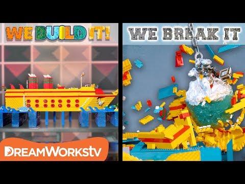 Swinging Iceberg Wrecking Ball | WE BUILD IT WE BREAK IT