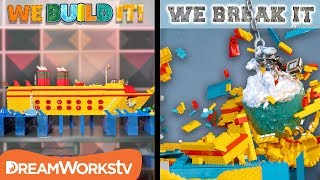 Swinging Iceberg Wrecking Ball | WE BUILD IT WE BREAK IT