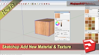 Sketchup How To Add Material Texture Permanent