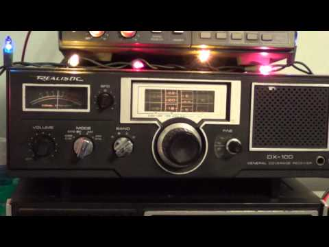 Radio Habana Cuba 15370 Khz on Realistic DX 100 shortwave receiver
