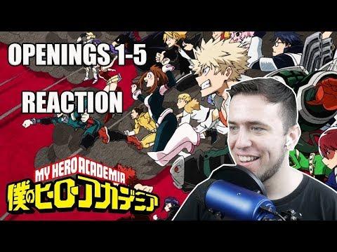 My Hero Academia Openings 1-5 REACTION