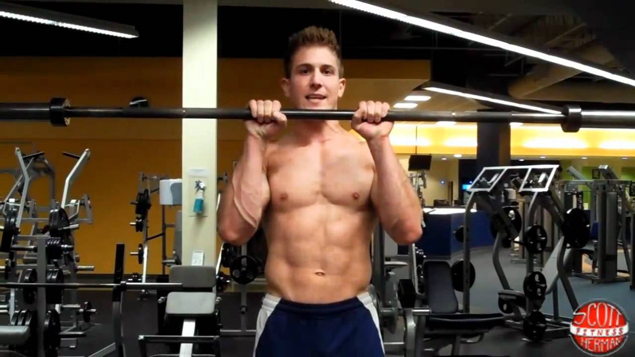 How To: Reverse Grip Straight-Bar Bicep Curl - YouTube