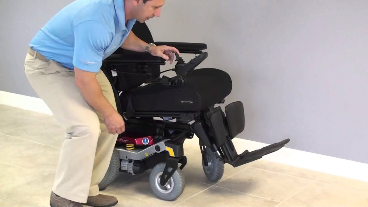 Quantum Rival Rear Wheel Drive Power Wheelchair with multiple