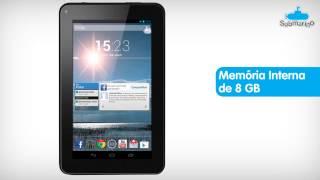 Tablet Multilaser M7-S Dual Core com Android 4.2 8GB Wi-Fi Tela 7 Preto - Submarino.com.br