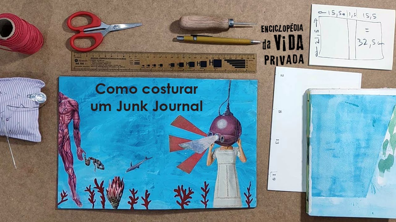 Como costurar um Junk Journal