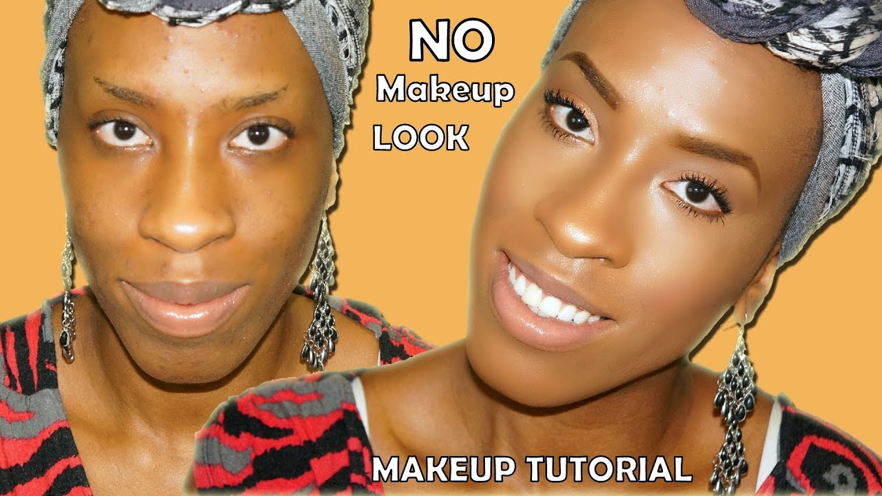 No Makeup Makeup Tutorial On Hyperpigmented Skin For Black Women - YouTube