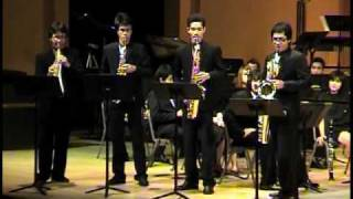 Saxtory by Jerome Naulais / Siam Saxophone Quartet with Mahidol Wind Symphony (Part 2)