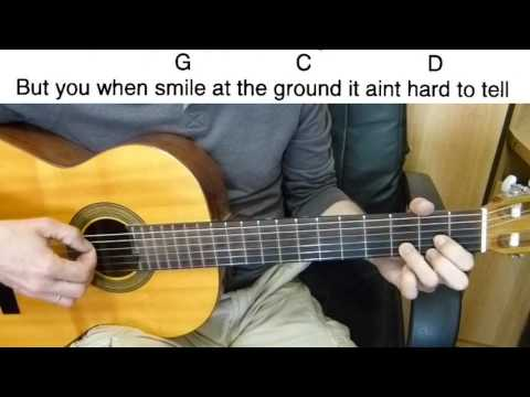 Guitar Accompaniment - 1D - What Makes You Beautiful - Easy Guitar (Including Lyrics And Chords)