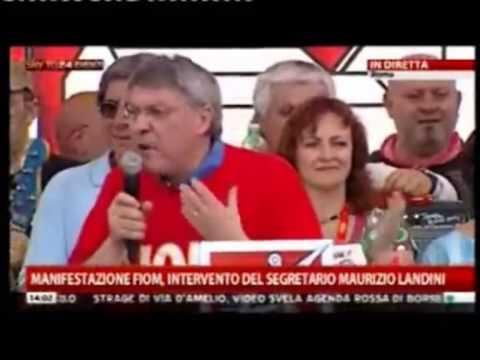 Maurizio Landini - manifestazione nazionale Fiom - Roma, 18 maggio 2013