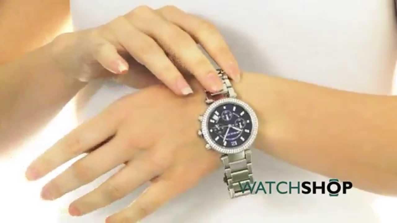 6cd3af33c Michael Kors Ladies' Parker Chronograph Watch (MK6117) - YouTube
