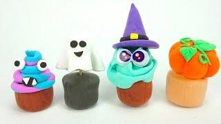 Лепим поделки из пластилина, хеллоуин для детей