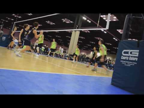 Caleb Steege #36 @ Indy Qualifier 2017-02-03  D1 Volleyball Club 17Green - Serve & Pass Highlights