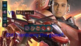 Hardcarrying vs an INSANELY fed kinetic? Vainglory 5v5