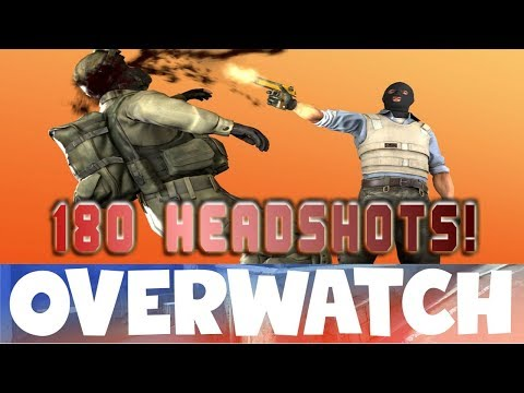 Crazy 180 HEADSHOTS! CS:GO OVERWATCH