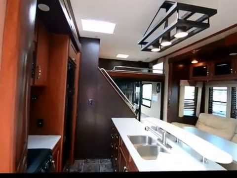 2014 Elevation 3912 By Thor Redwood Rv Toy Hauler Fifth Wheel Youtube