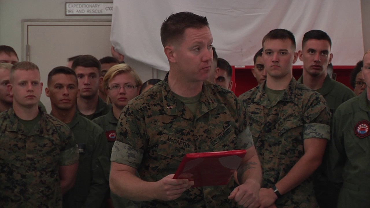 marine firefighters claim 2 marine corps wide awards