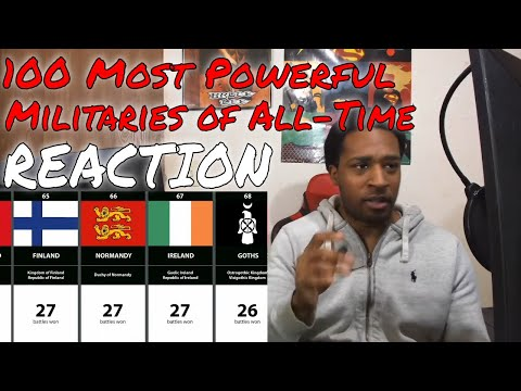100 Most Powerful Militaries Of All Time REACTION   DaVinci REACTS