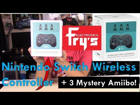 Fry's Electronics Nintendo Switch Controller + Amiibo Bundle
