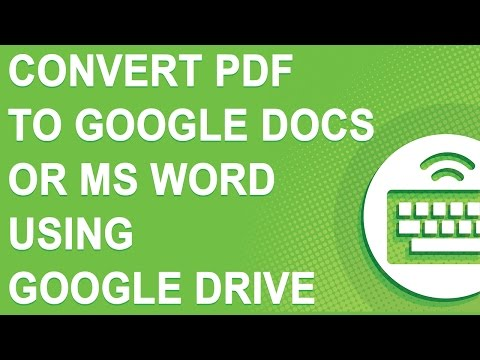 Convert PDF to Google Docs or MS Word using NEW Google Drive