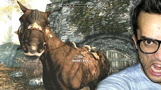 Skyrim - DRAMATIC HORSE SCENE