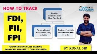 Banking Awareness FDI,FII,FPI  topics live class by Kunal Sir