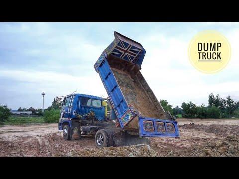 ดู รถ บรรทุกดั้ม หกล้อ ถมที่ รถไถ ดันดิน truck thailand Ep.1