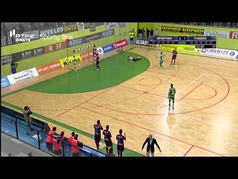 Futsal :: 13J :: Sporting - 3 x Fundão - 4 de 2014/2015
