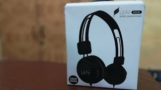 Leaf Rock Wired Headphone Unboxing and Review