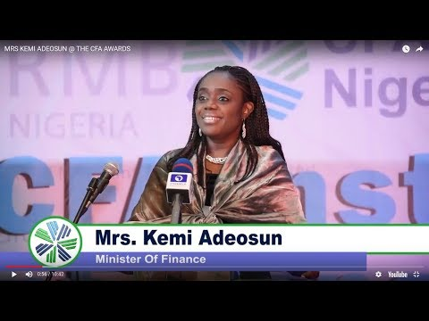 Women in Investment Management Initiative - MRS KEMI ADEOSUN, Minister of Finance