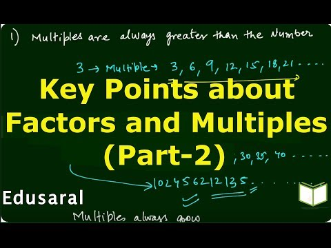 Key Points about Factors and Multiples - Part-2| Playing with Numbers |Ch-3.2- 6th NCERT | Edusaral