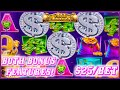 HIGH LIMIT All Aboard 🚂 Piggy Pennies (2) $25 Bonus Rounds Slot Machine Casino