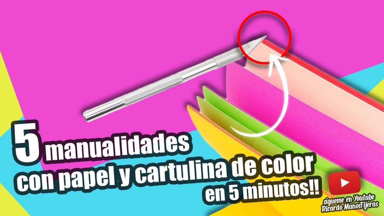 MANUALIDADES NIOS5 MANUALIDADES CON PAPEL Y CARTULINA DE COLORES
