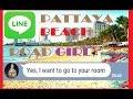 Man talk with a asian prostitute PATTAYA BEACH ROAD GIRL