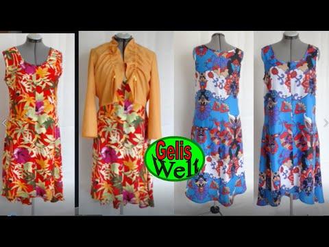 DIY einfaches langes Kleid selber nähen erklärt nach Schnittmuster + ...