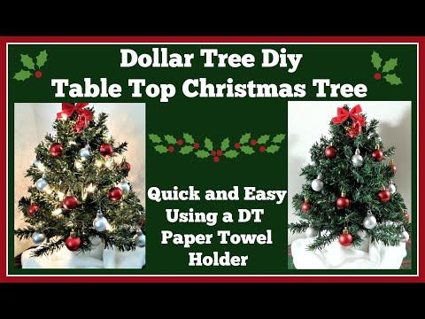Dollar Tree Diy 🎄 Table Top Christmas Tree