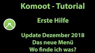 Komoot Erste Hilfe - Update Dezember 2018