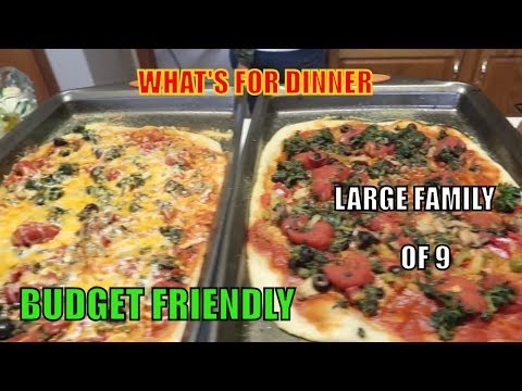 WEEK OF DINNERS   MARCH 17 - 22   BUDGET MEALS   LARGE FAMILY