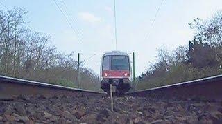 RER B - Le train passe au dessus de la caméra