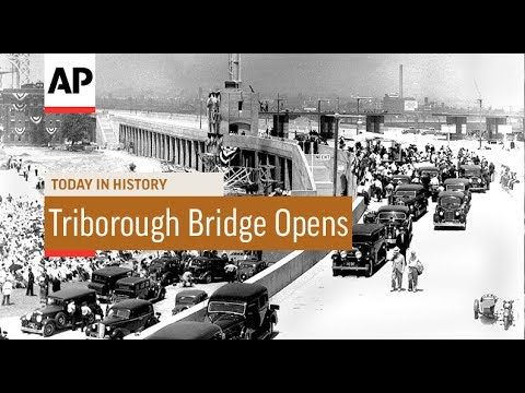 Triborough Bridge Opens - 1936 | Today In History | 11 July 17
