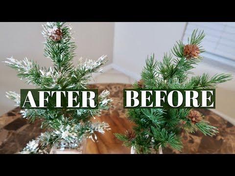 ONE INGREDIENT CHRISTMAS TREE & GARLAND FLOCKING // DOLLAR TREE DIY // EASY METHOD